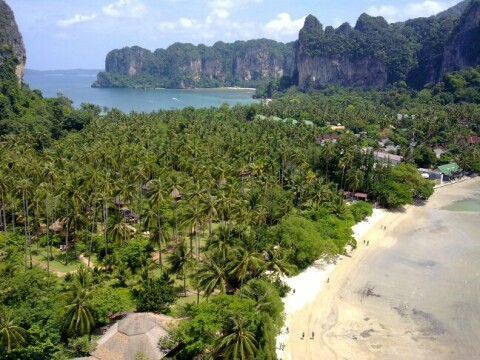 Thailand uitzicht viewpoint op Railay beach